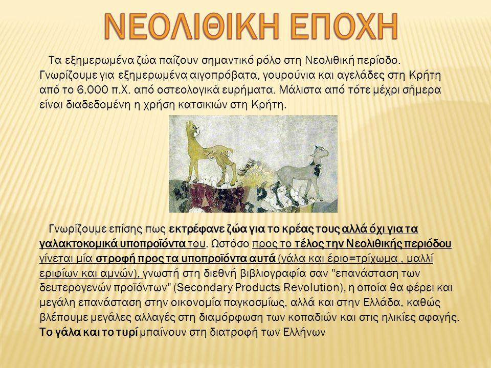 Τα εξημερωμένα ζώα παίζουν σημαντικό ρόλο στη Νεολιθική περίοδο.