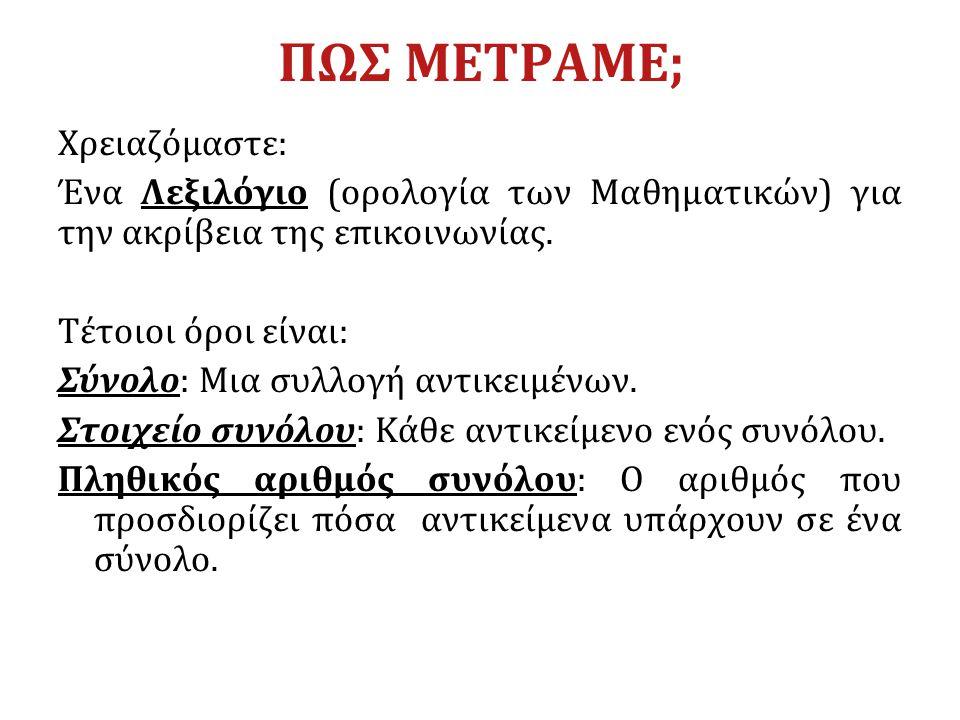 ΑΡΧΑΙΟΣ ΕΛΛΗΝΙΚΟΣ ΠΟΛΙΤΙΣΜΟΣ Πυθαγόρας ο Σάμιος (580-500 π.Χ.) Mελέτησε: τους αριθμούς και τις 4 βασικές πράξεις τους που ήταν εργαλείο για τους εμπόρους και τους ιερείς (Λογιστική) τις ιδιότητές των αριθμών και τα προβλήματα που προκύπτουν από τη μελέτη αυτή (σύγχρονη θεωρία αριθμών).