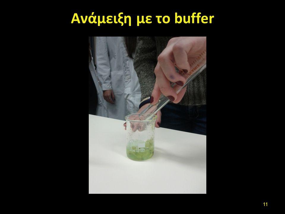Ανάμειξη με το buffer 11