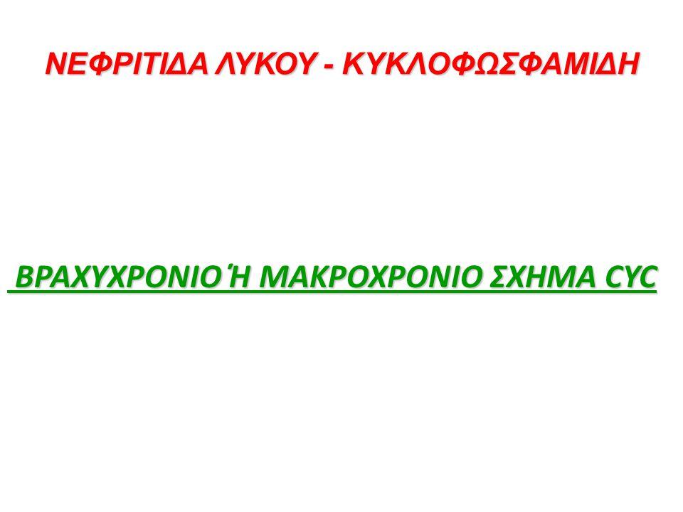 ΝΕΦΡΙΤΙΔΑ ΛΥΚΟΥ - ΚΥΚΛΟΦΩΣΦΑΜΙΔΗ BΡΑΧΥΧΡΟΝΙΟ Ή ΜΑΚΡΟΧΡΟΝΙΟ ΣΧΗΜΑ CYC BΡΑΧΥΧΡΟΝΙΟ Ή ΜΑΚΡΟΧΡΟΝΙΟ ΣΧΗΜΑ CYC