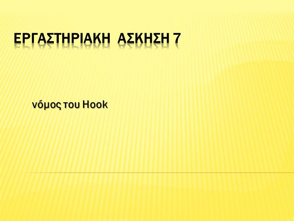 νόμος του Hook