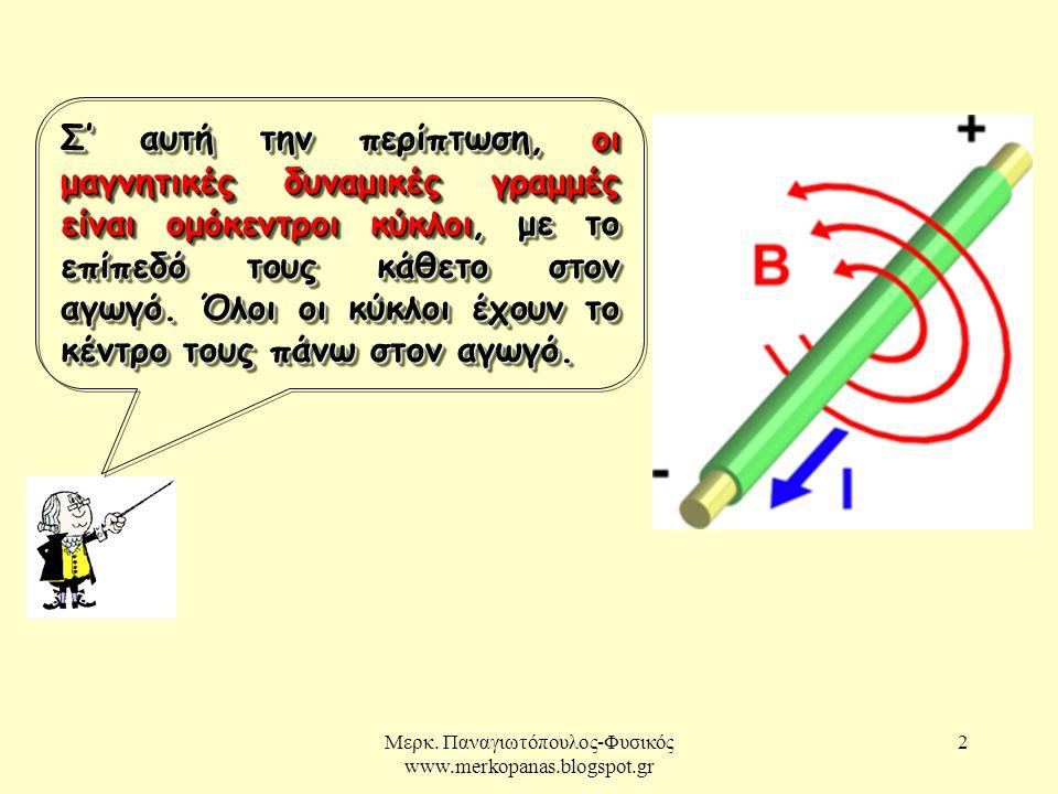 Μερκ.Παναγιωτόπουλος-Φυσικός www.merkopanas.blogspot.gr 3  Το μαγνητικό πεδίο είναι ανομοιογενές.