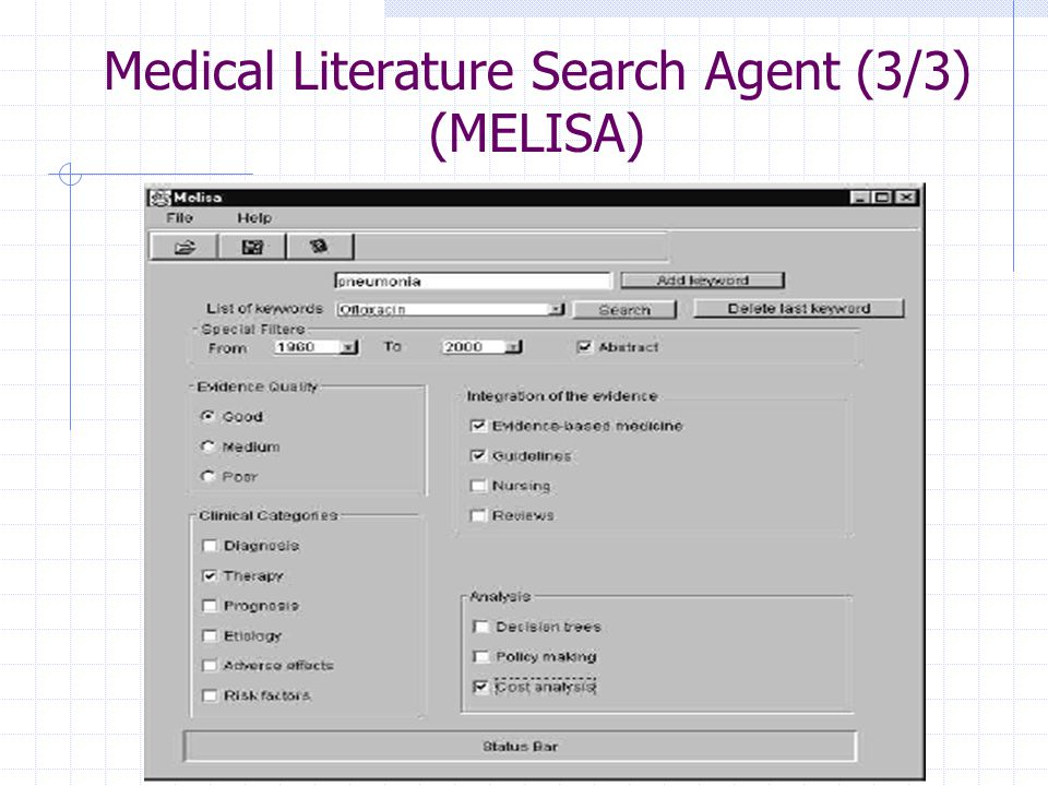 Medical Literature Search Agent (3/3) (MELISA)