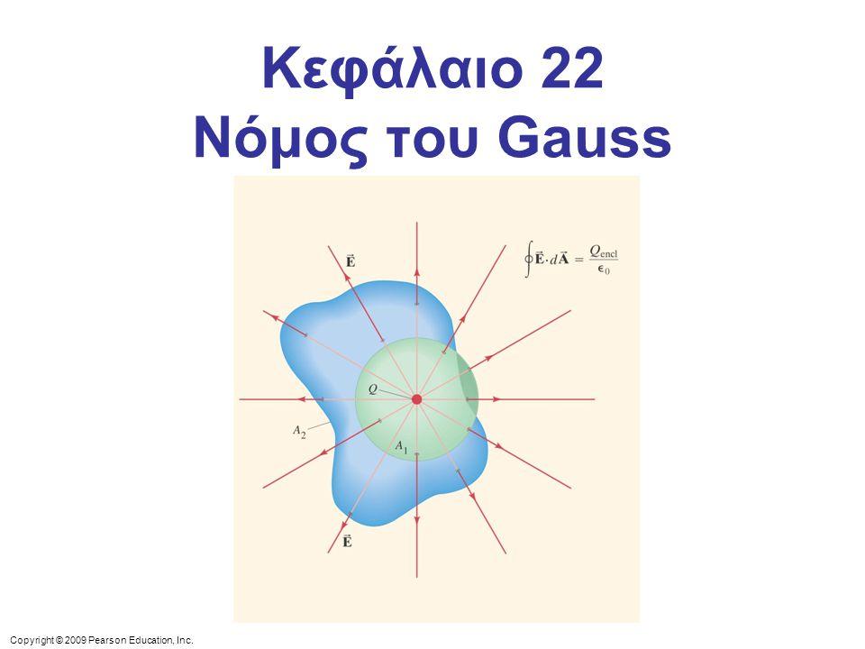 Copyright © 2009 Pearson Education, Inc. Κεφάλαιο 22 Νόμος του Gauss