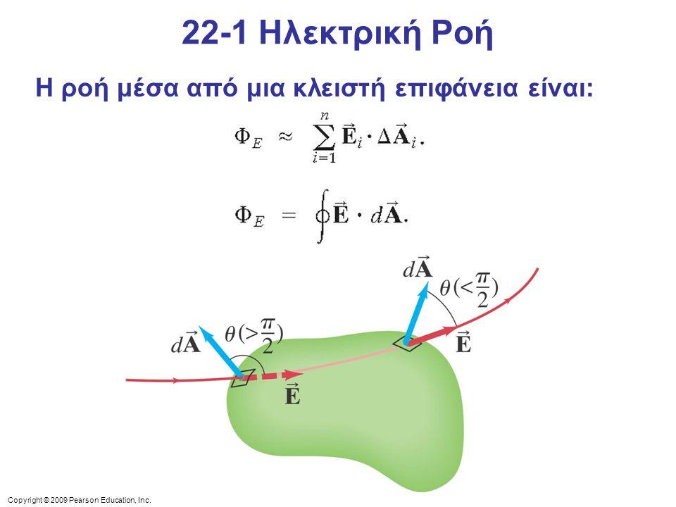 Copyright © 2009 Pearson Education, Inc. Η ροή μέσα από μια κλειστή επιφάνεια είναι: 22-1 Ηλεκτρική Ροή