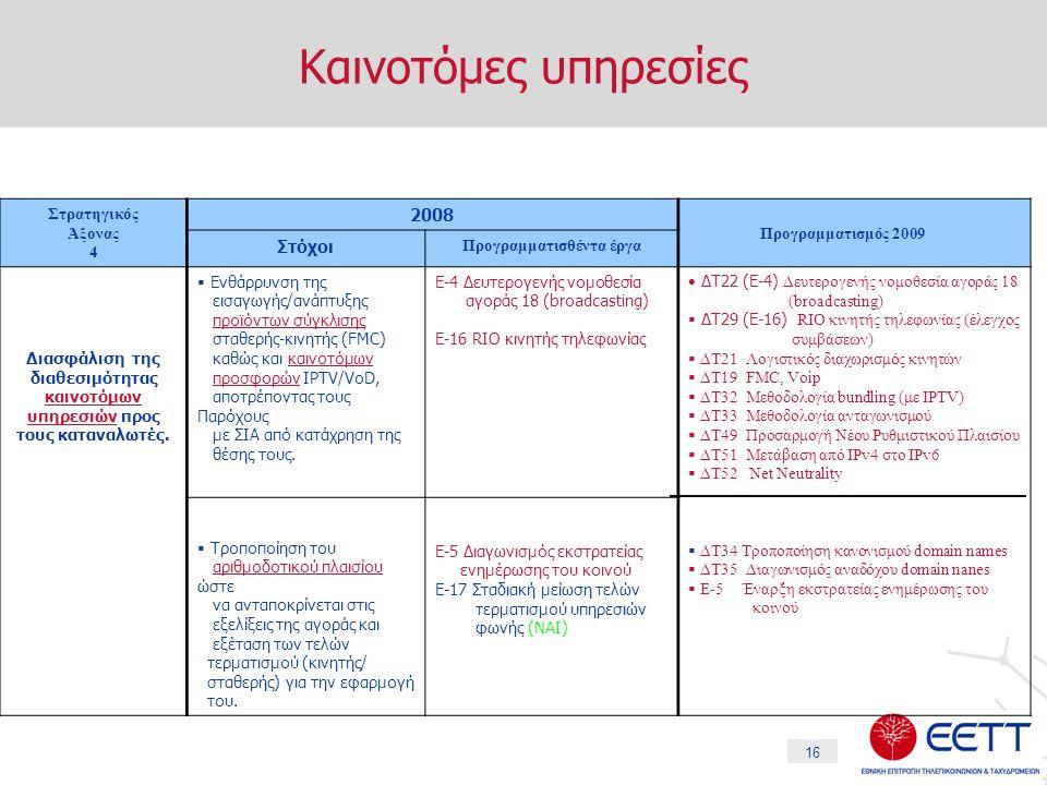 16 Καινοτόμες υπηρεσίες  Ενημέρωση & εκπαίδευση των εμπλεκομένων μερών με στόχο τη διασφάλιση της υιοθέτησης ψηφιακών υπηρεσιών.