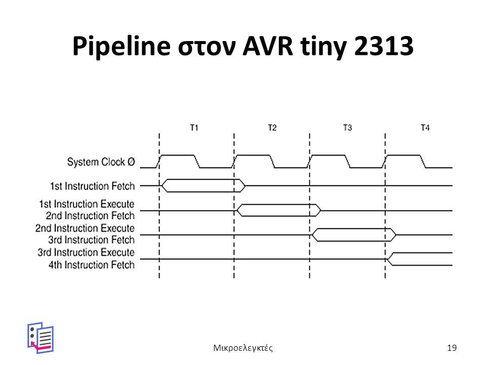 Pipeline στον AVR tiny 2313 Μικροελεγκτές19