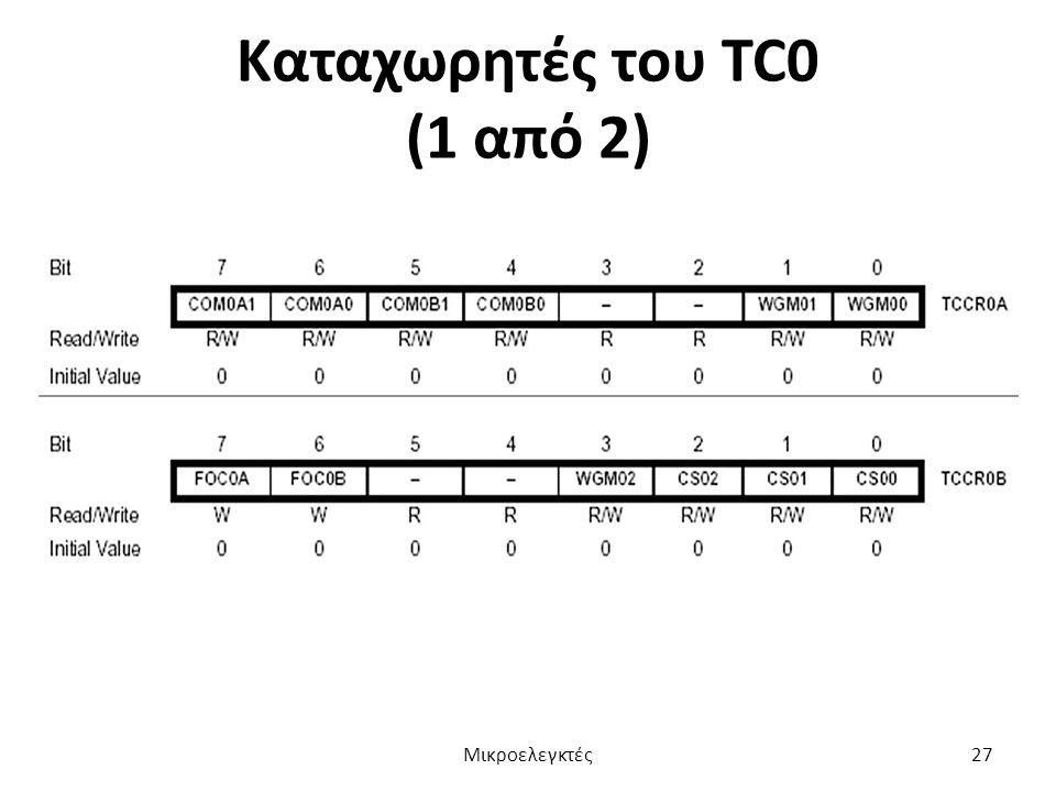Καταχωρητές του TC0 (1 από 2) Μικροελεγκτές27