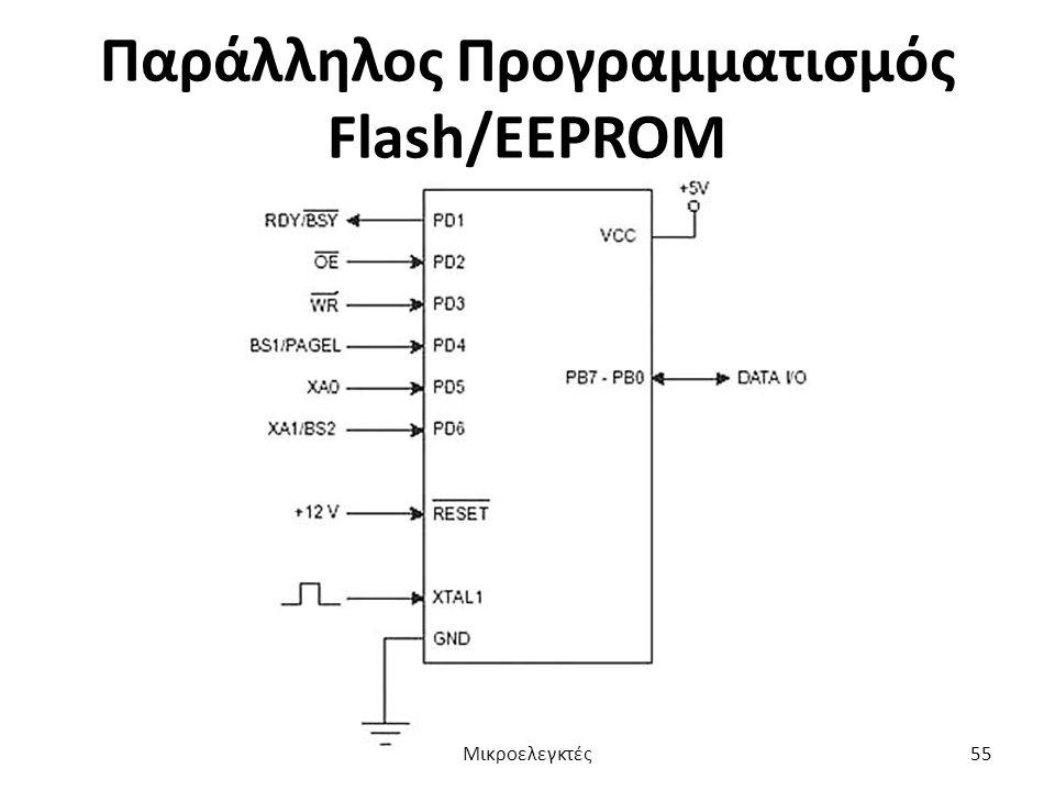 Παράλληλος Προγραμματισμός Flash/EEPROM Μικροελεγκτές55