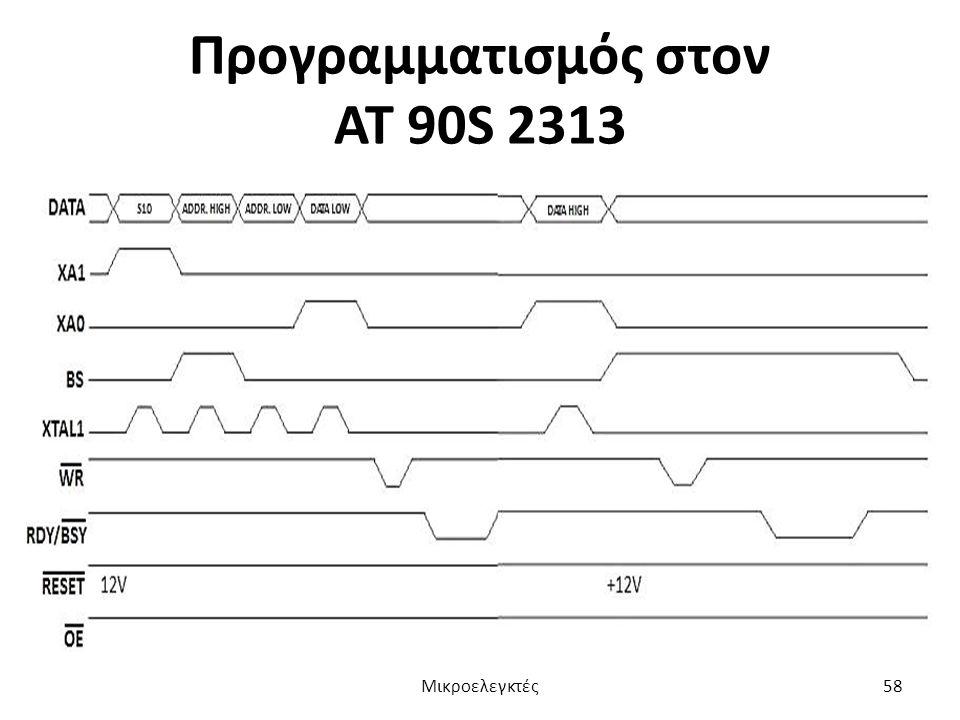 Προγραμματισμός στον ΑΤ 90S 2313 Μικροελεγκτές58