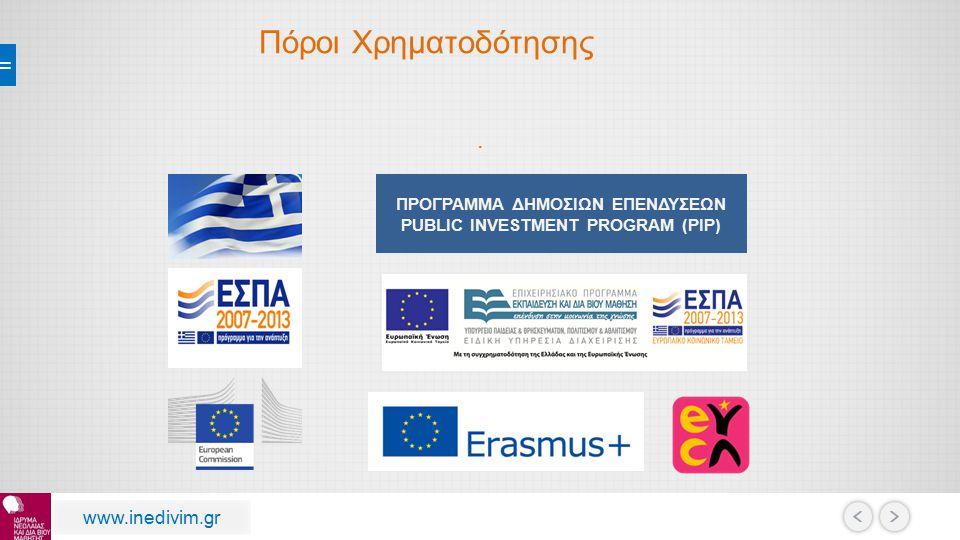 Οι εκπαιδευόμενοι εντάσσονται σε Μητρώο Εθελοντικών Οργανώσεων της Γενικής Γραμματείας Πολιτικής Προστασίας www.inedivim.gr Προστατεύω Τον Εαυτό μου Και Τους Άλλους