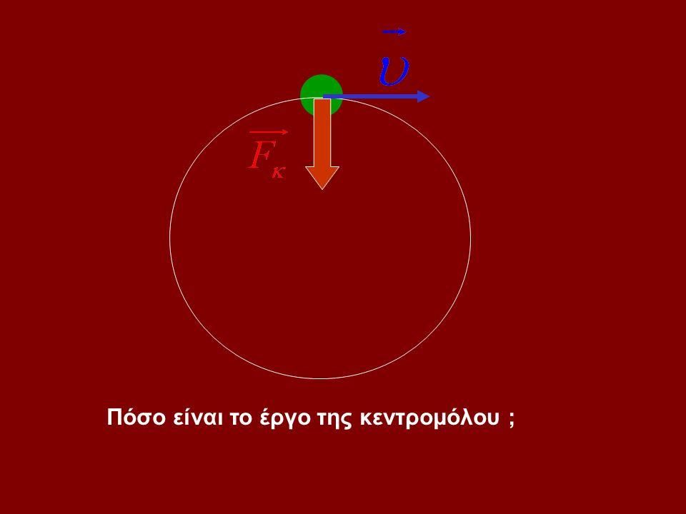 Παρατήρηση : Αν η τροχιά είναι καμπύλη ή η δύναμη είναι μεταβλητή ή και τα δύο τότε : θ1θ1 dx 1 dx 2 θ2θ2 dx 3 θ3θ3 κ.ο.κ