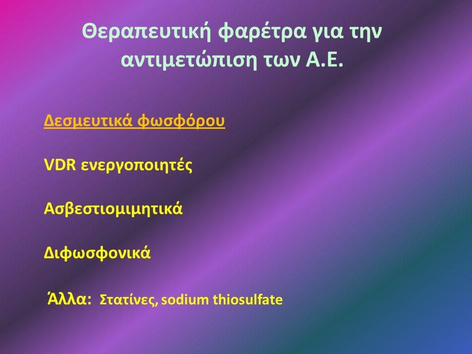 Θεραπευτική φαρέτρα για την αντιμετώπιση των Α.Ε.