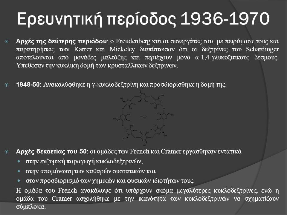 Ερευνητική περίοδος 1936-1970  Αρχές της δεύτερης περιόδου: ο Freudenberg και οι συνεργάτες του, με πειράματα τους και παρατηρήσεις των Karrer και Mi