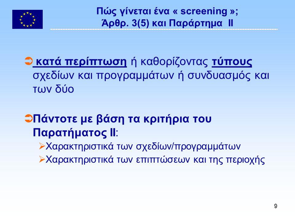 9 Πώς γίνεται ένα « screening »; Άρθρ.