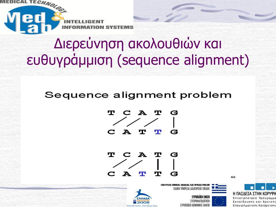 Διερεύνηση ακολουθιών και ευθυγράμμιση (sequence alignment)