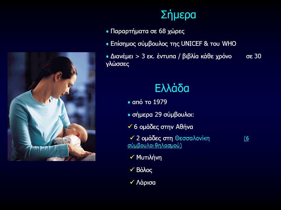 Σήμερα  Παραρτήματα σε 68 χώρες  Επίσημος σύμβουλος της UNICEF & του WHO  Διανέμει > 3 εκ. έντυπα / βιβλία κάθε χρόνο σε 30 γλώσσες Ελλάδα  από το
