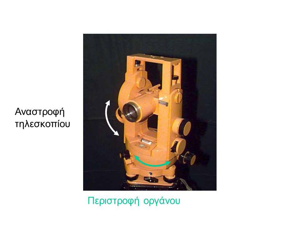 Αναστροφή τηλεσκοπίου Περιστροφή οργάνου