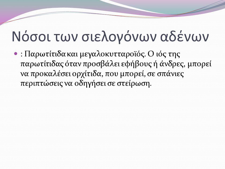 Νόσοι των σιελογόνων αδένων : Παρωτίτιδα και μεγαλοκυτταροϊός.