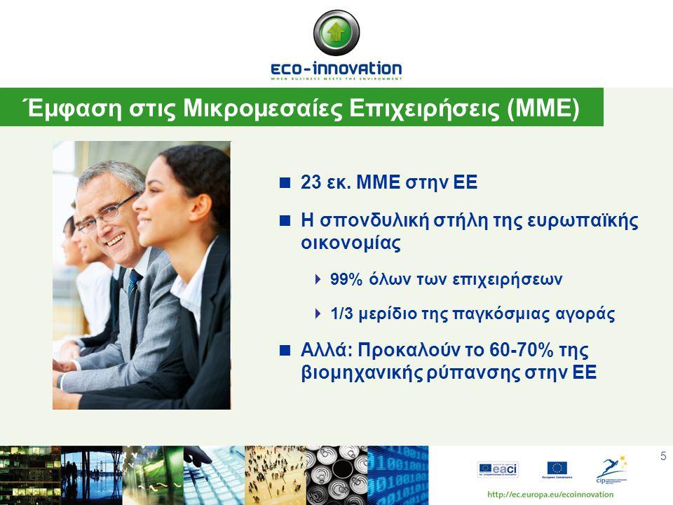 6 Βασικές Αρχές της Ευρωπαϊκής Πρωτοβουλία CIP Eco-Innovation  Προϋπολογισμός: ~ 200 εκατ € (2008- 2013)  Ποσοστό χρηματοδότησης: 50% επί των συνολικών επιλέξιμων δαπανών  Μέγιστο χρονικό όριο σύμβασης: 3 έτη  Κανένας περιορισμός στον αριθμό των συνεργατών και χωρών