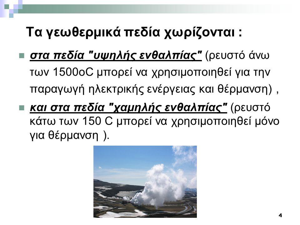 5 ΑΒΑΘΗΣ ΓΕΩΘΕΡΜΙΑ Εκτός από τη γεωθερμική ενέργεια, υπάρχει και η δυνατότητα αξιοποίησης της λεγόμενης Αβαθούς γεωθερμικής ενέργειας (της θερμότητας που εμπεριέχεται μέσα στα πετρώματα και ρευστά με θερμοκρασία μικρότερη από 25°C).