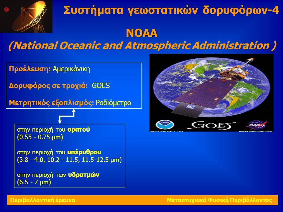 Προέλευση: Αμερικάνικη Δορυφόρος σε τροχιά: GΟΕS Μετρητικός εξοπλισμός: Ραδιόμετρο ΝΟΑΑ (National Oceanic and Atmospheric Administration ) στην περιοχ