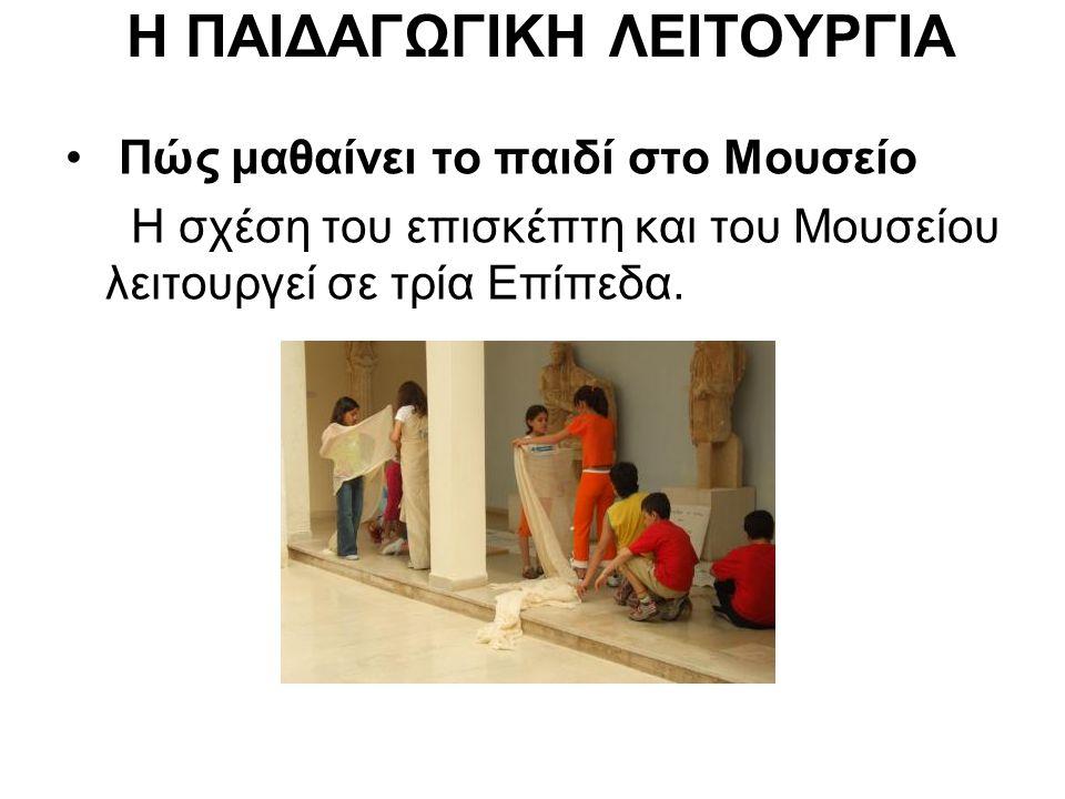 Η ΠΑΙΔΑΓΩΓΙΚΗ ΛΕΙΤΟΥΡΓΙΑ Πώς μαθαίνει το παιδί στο Μουσείο Η σχέση του επισκέπτη και του Μουσείου λειτουργεί σε τρία Επίπεδα.