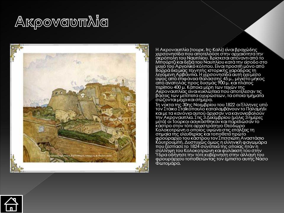 Η Ακροναυπλία (τουρκ. Ιτς-Καλέ) είναι βραχώδης χερσονησίδα που αποτελούσε στην αρχαιότητα την ακρόπολη του Ναυπλίου. Βρίσκεται απέναντι από το Μπούρτζ