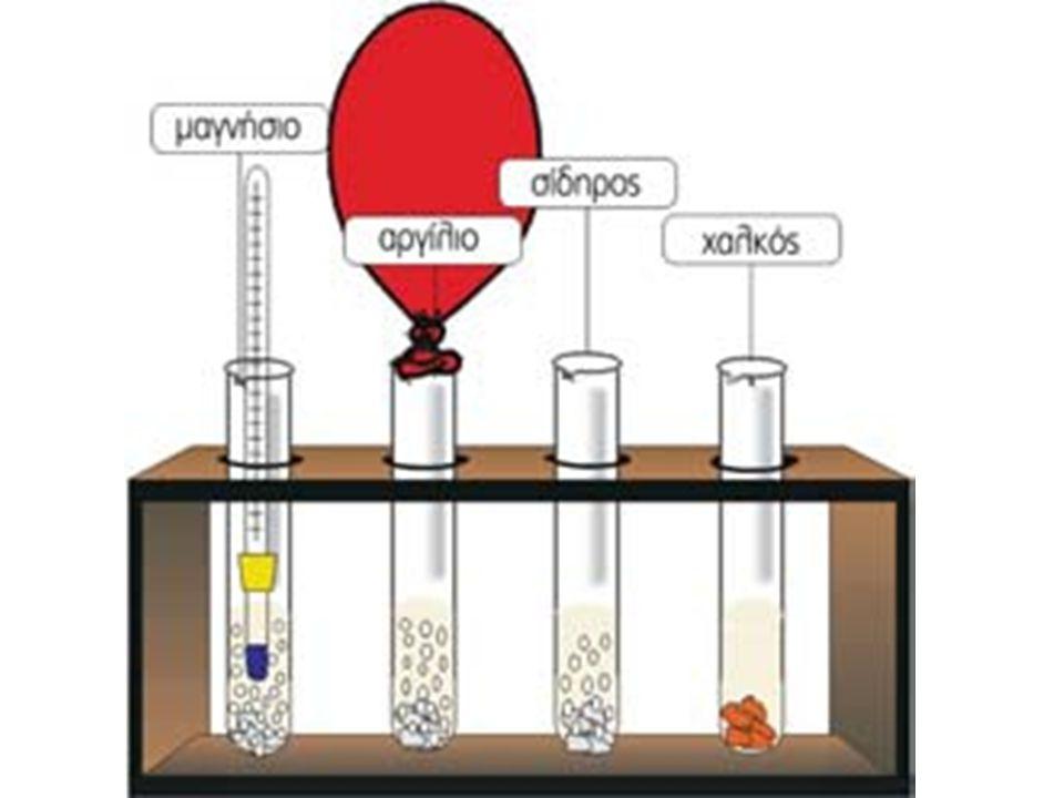 Στο διάλυμα υδροχλωρίου υπάρχουν ιόντα H + (aq) και Cl - (aq).