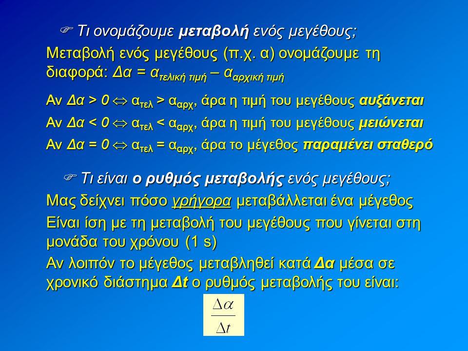  Γραφική παράσταση μιας συνάρτησης πρώτου βαθμού Αν η συνάρτηση είναι πρώτου βαθμού: y = ax + b, τότε η γραφική παράσταση είναι ευθεία και αρκούν δύο σημεία για την σχεδίαση της.
