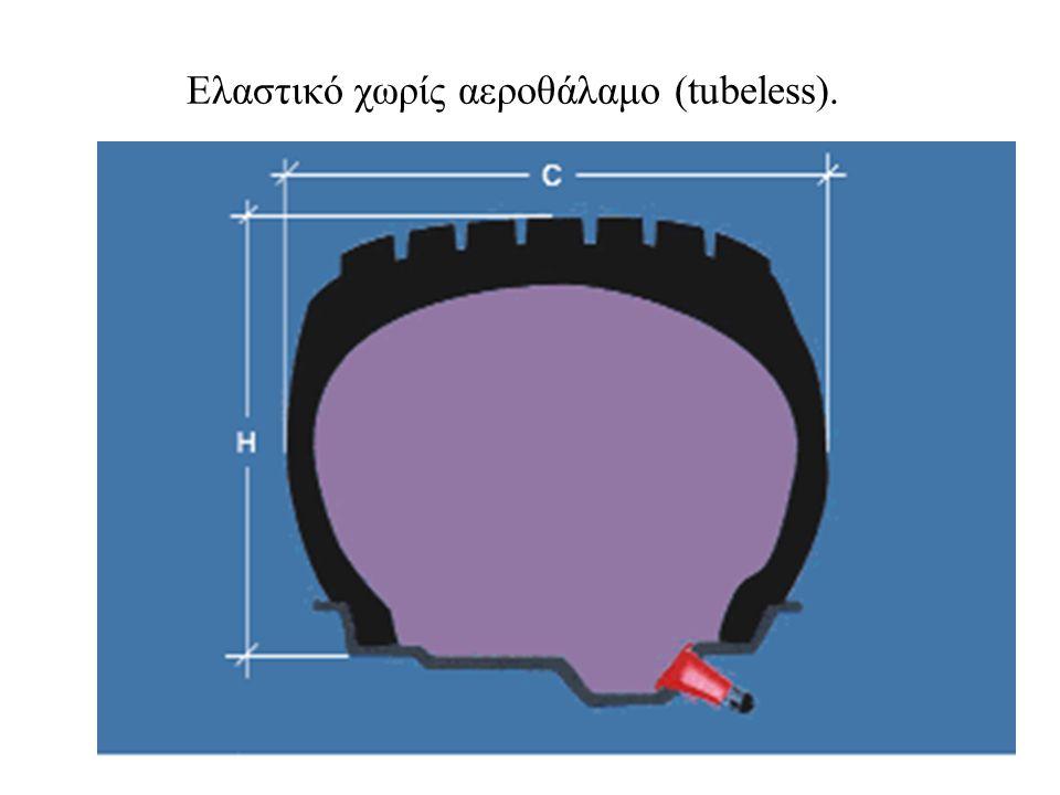 Ελαστικό χωρίς αεροθάλαμο (tubeless).
