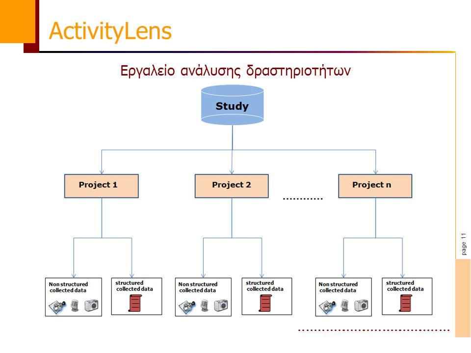 page 11 ActivityLens Εργαλείο ανάλυσης δραστηριοτήτων