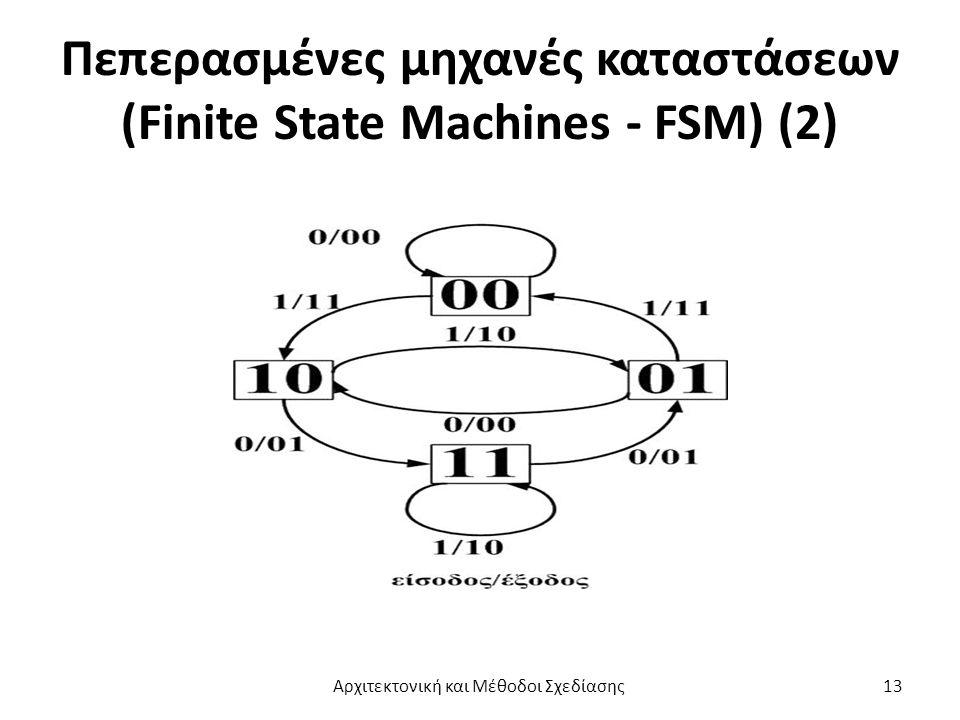 Πεπερασμένες μηχανές καταστάσεων (Finite State Machines - FSM) (2) Αρχιτεκτονική και Μέθοδοι Σχεδίασης13