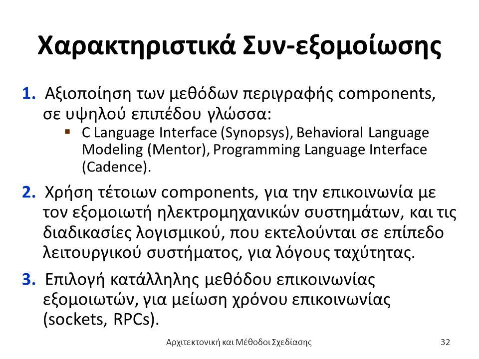 Χαρακτηριστικά Συν-εξομοίωσης 1.
