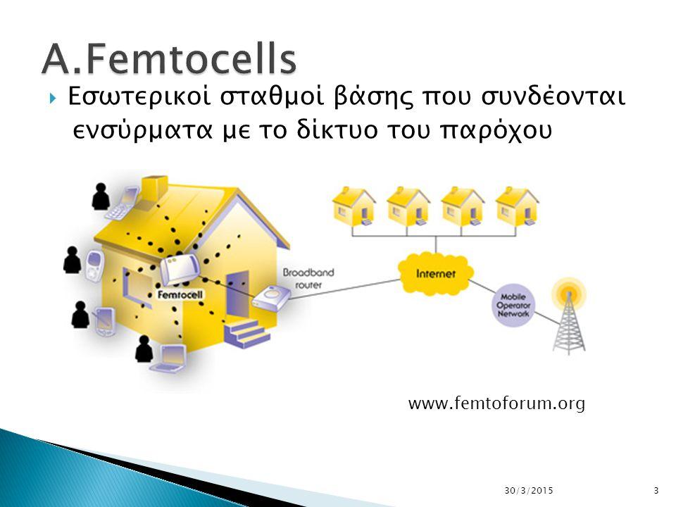  Eσωτερικοί σταθμοί βάσης που συνδέονται ενσύρματα με το δίκτυο του παρόχου 330/3/2015 www.femtoforum.org