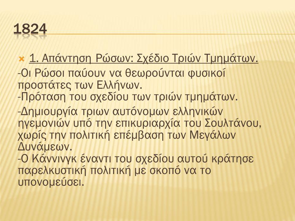  1. Απάντηση Ρώσων: Σχέδιο Τριών Τμημάτων.