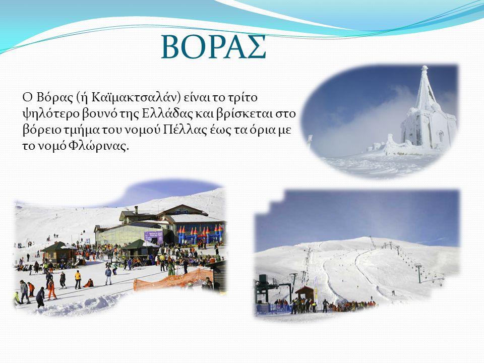 Ο Βόρας (ή Καϊμακτσαλάν) είναι το τρίτο ψηλότερο βουνό της Ελλάδας και βρίσκεται στο βόρειο τμήμα του νομού Πέλλας έως τα όρια με το νομό Φλώρινας. ΒΟ