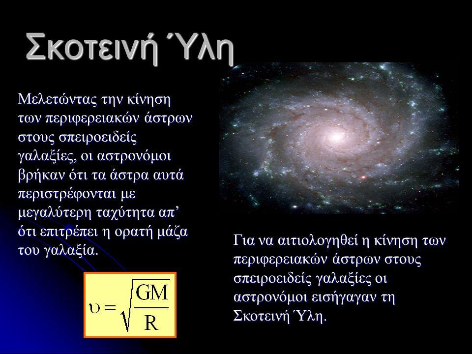 Τα Νέα Επιστημονικά Δεδομένα Το 1998 δύο επιστημονικές ομάδες επιβεβαίωσαν ότι το σύμπαν διαστέλλεται επιταχυνόμενο.