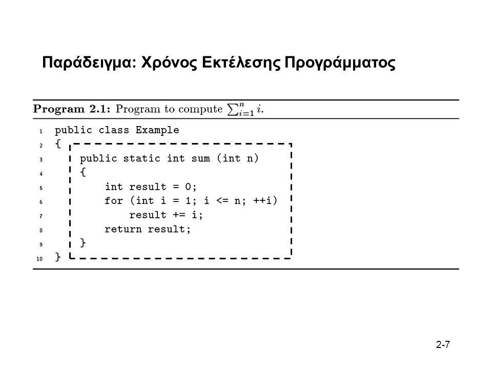 2-7 Παράδειγμα: Χρόνος Εκτέλεσης Προγράμματος