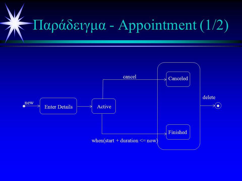 Εκλέπτυνση διαγραμμάτων (2) ä Παράλληλες υποκαταστάσεις - AND- εκλέπτυνση ä Όταν η υπερκατάσταση είναι ενεργή και όλες οι υποκαταστάσεις είναι ενεργές ä Οι υποκαταστάσεις εκλεπτύνονται με OR Z A B