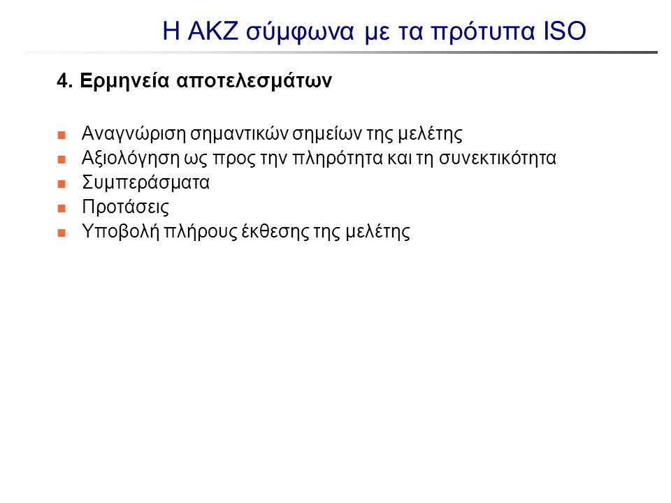 Η ΑΚΖ σύμφωνα με τα πρότυπα ISO 4. Ερμηνεία αποτελεσμάτων n Αναγνώριση σημαντικών σημείων της μελέτης n Αξιολόγηση ως προς την πληρότητα και τη συνεκτ