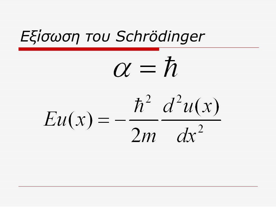 Εξίσωση του Schrödinger