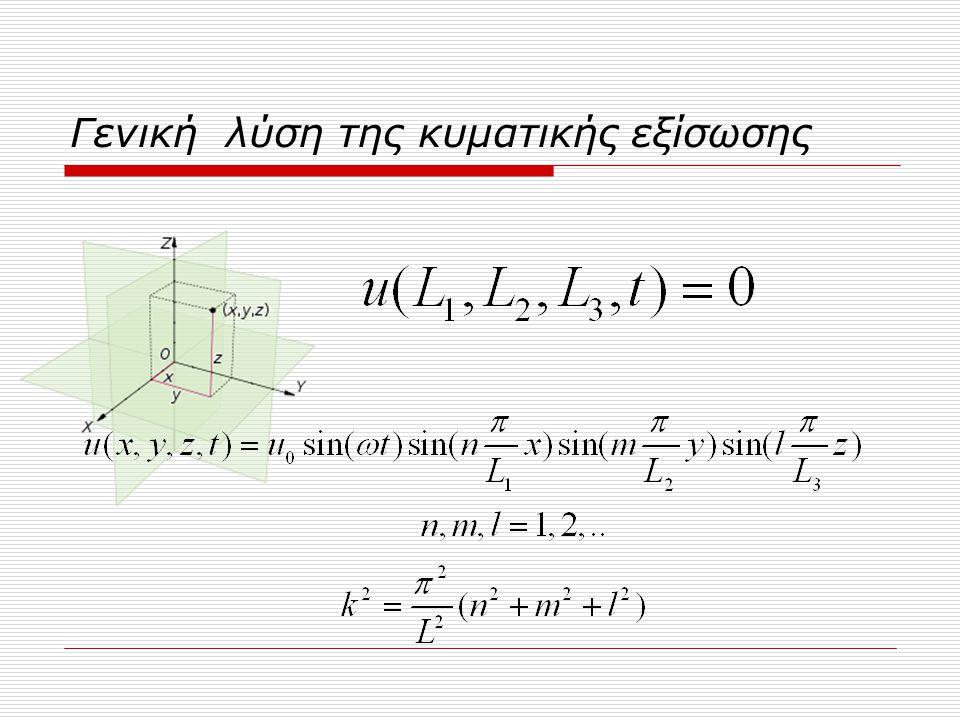Γενική λύση της κυματικής εξίσωσης