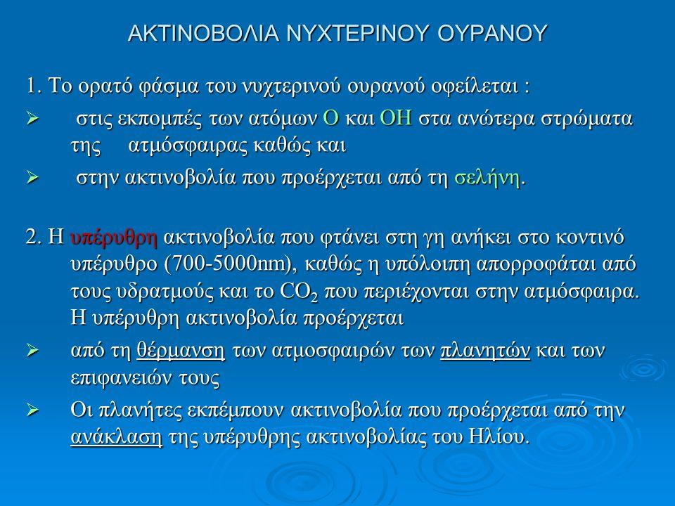 ΑΚΤΙΝΟΒΟΛΙΑ ΝΥΧΤΕΡΙΝΟΥ ΟΥΡΑΝΟΥ 3.