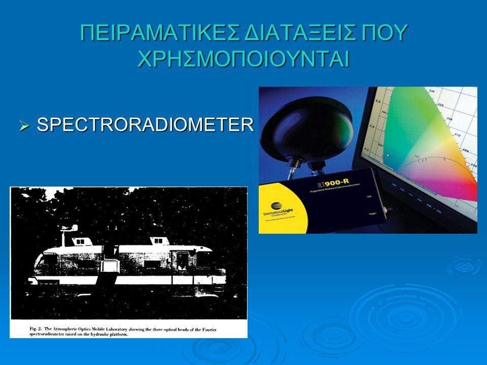 ΠΕΙΡΑΜΑΤΙΚΕΣ ΔΙΑΤΑΞΕΙΣ ΠΟΥ ΧΡΗΣΜΟΠΟΙΟΥΝΤΑΙ  SPECTRORADIOMETER