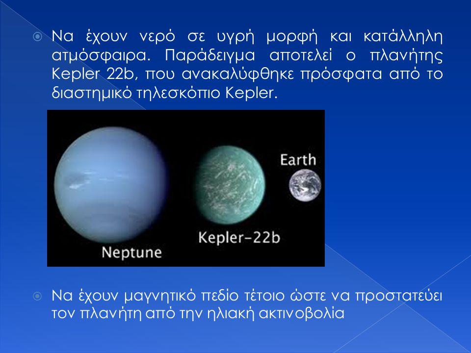 Οι προϋποθέσεις για εμφάνιση ζωής σε κάποιο πλανήτη ή εξωπλανήτη είναι οι εξής:  Να βρίσκονται σε κατάλληλη απόσταση από το άστρο τους, στην λεγόμενη κατοικήσιμη ζώνη.