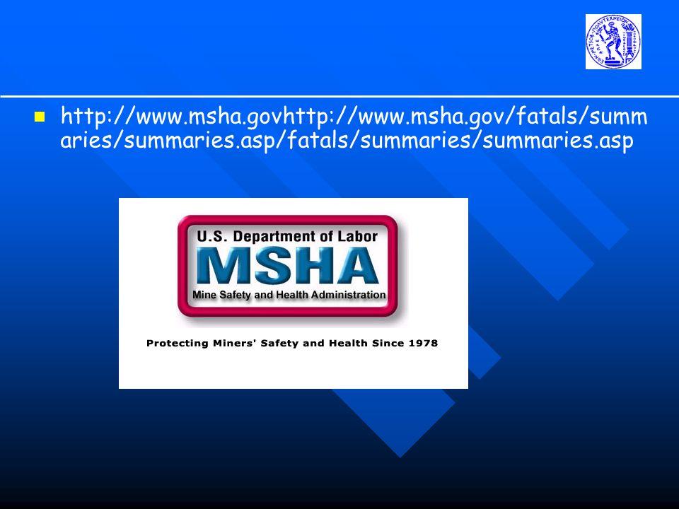 http://www.msha.govhttp://www.msha.gov/fatals/summ aries/summaries.asp/fatals/summaries/summaries.asp