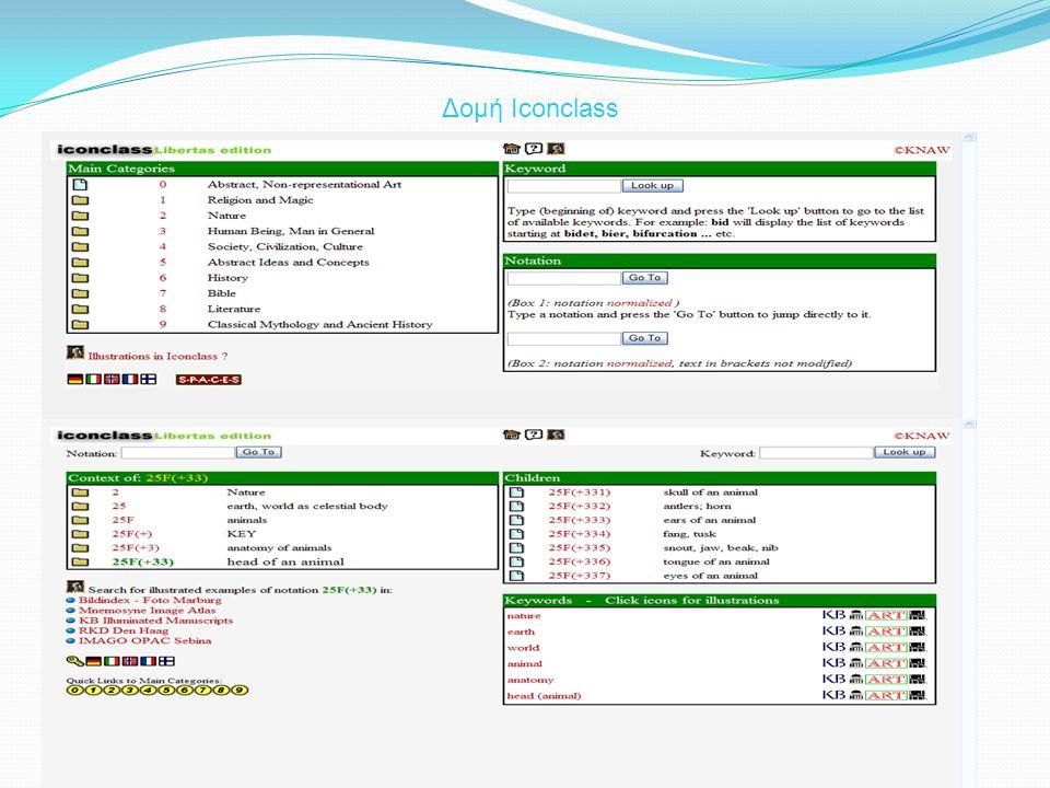 Απλή όψη αναζήτησης  Παρουσιάζει τις ενοποιημένες συλλογές από την πλευρά της μίας συλλογής  Τα στοιχεία της άλλης συλλογής είναι προσβάσιμα μέσω την αντιστοίχησης των θεματικών τους σχολιασμών και των εννοιών με την τρέχουσα συλλογή Αναζήτηση στις ενοποιημένες συλλογές με την χρησιμοποίηση του καταλόγου ARIA Ευθυγράμμιση έννοιας «Animal Pieces» του ARIA και έννοιας «25F:animals» του Iconclass