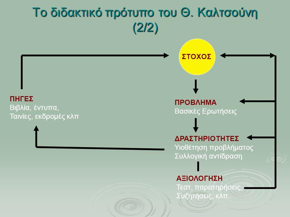 Το διδακτικό πρότυπο του Θ.