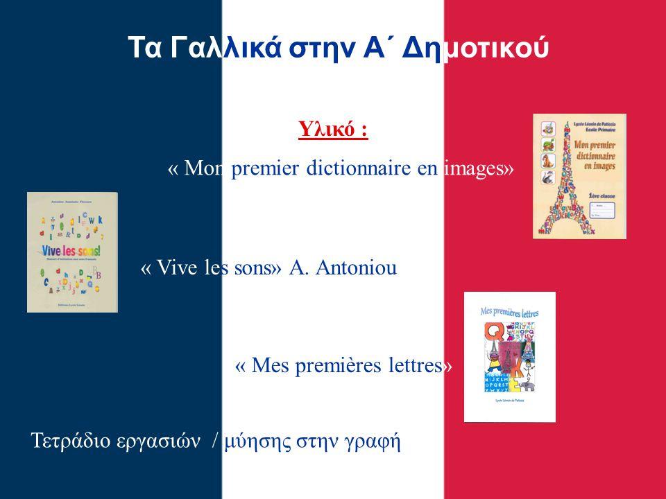 Τα Γαλλικά στην Β΄ Δημοτικού Υλικό : Τετράδιο αντιγραφής / μύησης στην γραφή « Zig Zag 1» Βιβλίο